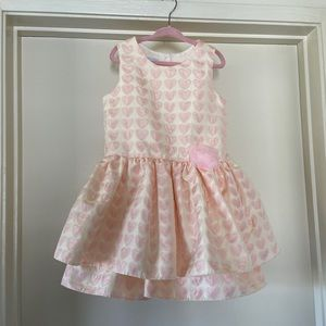 Other - Little girl pink heart dress.
